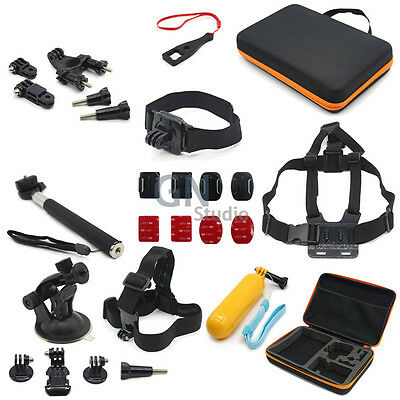 27 In 1 Combo Accessory Mount Kit Hard Case Session For Gopro Hero 5 4 3+ 3 2