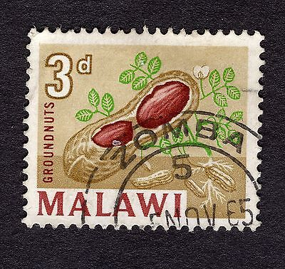1964 Malawi 3d Ground nuts SG 218 GOOD Used R30295