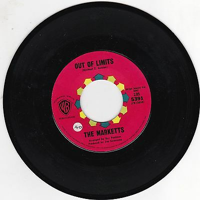 """The Marketts / Out Of Limits Usa 7"""" Warner Bros 5391 Excellent"""