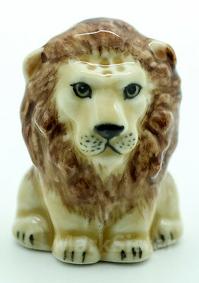 Finger Ceramic Sewing Animal Thimble Lion - THB005
