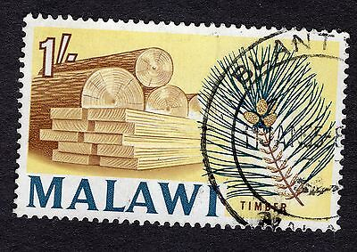 1964 Malawi 1/- Timber SG 258 FINE Used R30300