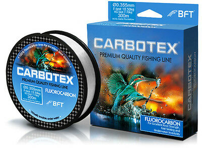 Carbotex Fluorocarbon Fishing Line 17LB, 200YD, Clear- New