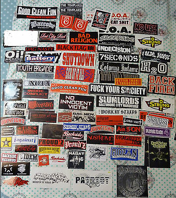 Lot of Punk Hardcore Oi Metal & more rare Stickers