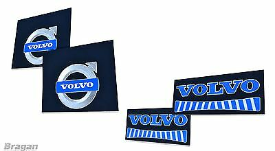 4 Piece UV Rubber Volvo Truck Front and Rear Mudflap Mud Flaps Set Blue