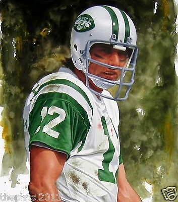 AWESOME 13 x 19 JOE NAMATH PRINT ON TEXTURED CANVAS