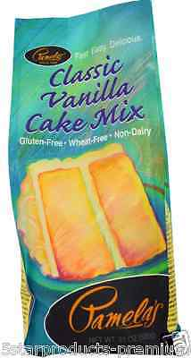 New Pamela's Products Vanilla Cake Mix Gluten Wheat Free Whole Grains Daily Care