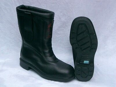 Goliath Fire brigade Shaft Boots,Crash Fighter Boots, Size 5 (38),Steel toe cap