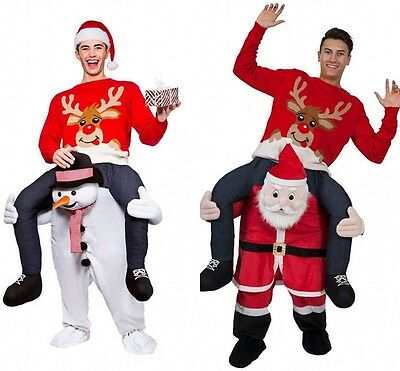 Fancy Christmas Pants Costume Carry Me Mascot Ride On Teddy Bear Snowman Back