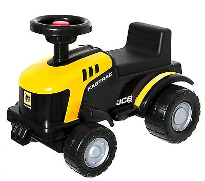 JCB Ride On Tractor Fastrac Children Yellow Black Boxed Kids Sit Toy, gift