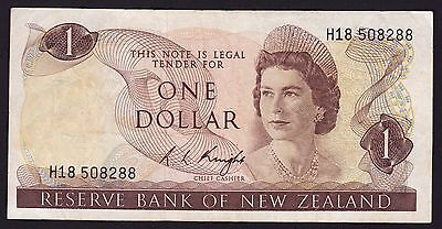 New Zealand One Dollar $1 Banknote R L Knight 1975 P-163c