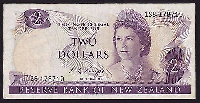 New Zealand Two Dollar $2 Banknote R L Knight 1975 P-164c