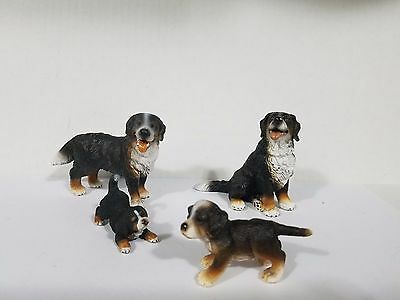 Schleich lot of 4 dogs Bernese Mountain dog family 16316 16339 16344 16398 Rare