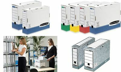 #12xFellowes BANKERS BOX SYSTEM Archiv-Schachtel, sortiert