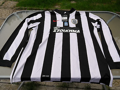 Paok Home Shirt Long Sleeves 2Xl Mens Brand New Tagged