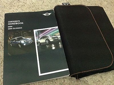 Bmw Mini And Clubman  Owners Manual Handbook  2011-2014   !!!!!