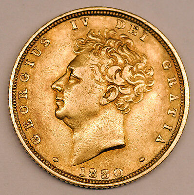 1830 King George Iv Gold Full Sovereign Coin