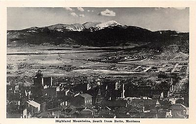 Butte Montana Highland Mountains~Summit Valley~Silver Bow News Postcard