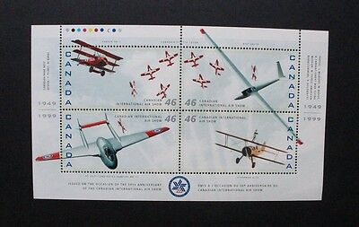 CANADA 1999 Air Show Aircraft. SHEETLET of 4. Mint Never Hinged. SG1936/1939