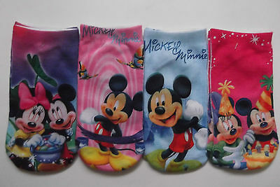Mickey Minnie Mouse Trainer Socks Size 8-12 ( 2-5yrs ) new