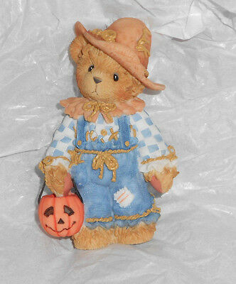 Enesco CHERISHED TEDDIES 884588 TOM Halloween Trick or Treater Bear Pumpkin