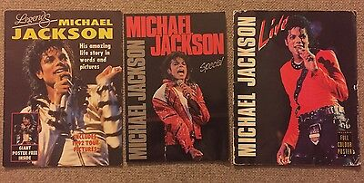 Michael Jackson Book Collection - Including 1988 Tour Special NO RESERVE!