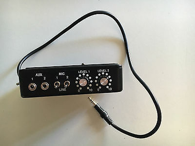Studio 1 - XLR Pro Dual channel on camera XLR Microphone Adapter & Mixer USED