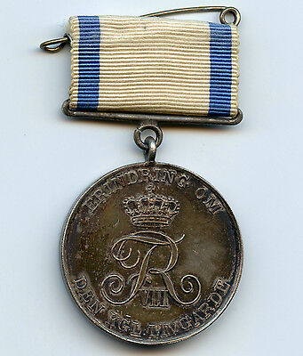 Denmark Danish Silver Medal 1908 the 250 anniv. of the Royal Life Guard Nice !!!
