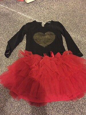 Girls Red And Black Tutu Outfit