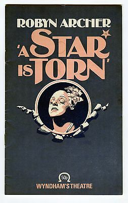 A Star Is Torn Theatre Programme
