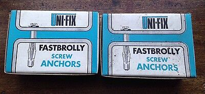 Unifix Fastbrolly Jack Nut , Screw Anchor , Hollow Wall Fixings X 50