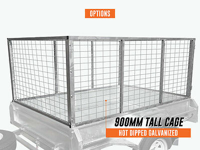 7x5x3ft 900mm Trailer Cage Hot dip Galvanised Melbourne