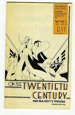 On The Twentieth Century The Musical - Theatre Programme