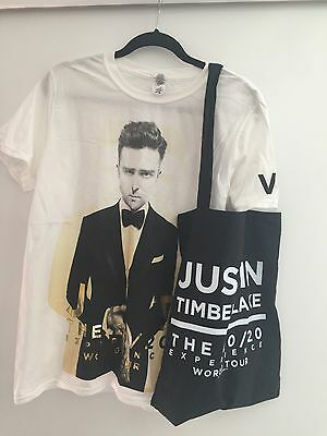 Justin Timberlake 20/20 Concert Shirt And Bag $9.99