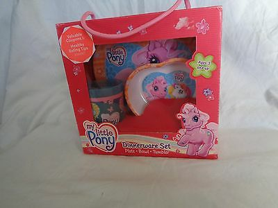 My Little Pony Dinnerware Set Plate Bowl Tumbler 2003 New