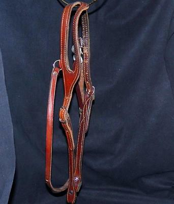 Vintage Macpherson Tack Los Angeles Shaped One Ear Bridle Leather Headstall