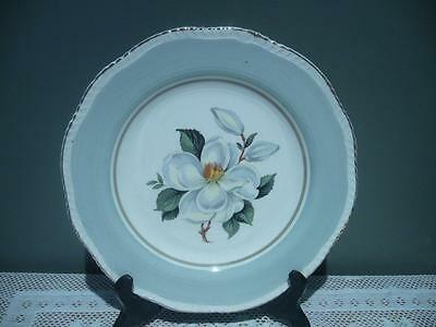 Woods Ivory Ware England Lovely Magnolia Cake Plate - Reasonable Cond