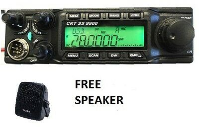 CRT SS 9900 Ham Radio CB CTCSS DCS Superstar anytone 6666  NO CABLE FREE SPEAKER