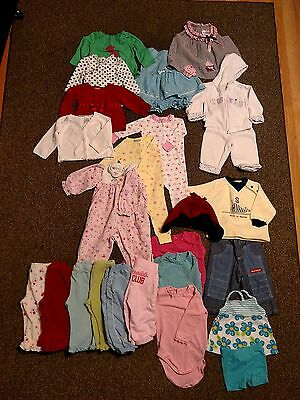 12 Month Baby Girl Toddler Clothes Mixed Lot-25 Pieces