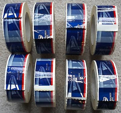 EIGHT ROLLS - USPS Eagle Logo Priority Mail Tape - Label 106-A October 1997