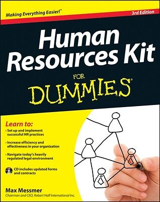 Human Resources Kit For Dummies (Paperback), Messmer, Max, 9781118422892