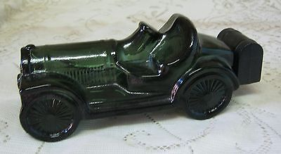 Vintage Avon Straight Eight Green Glass Car Wild Country After Shave Bottle