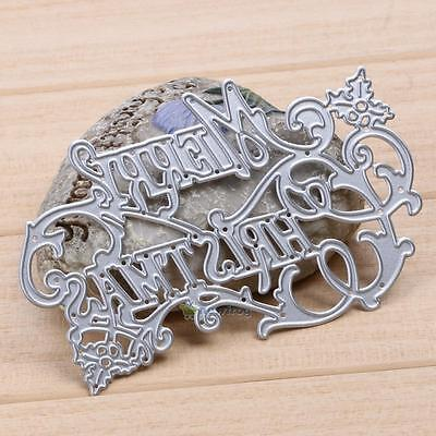 Merry Christmas Cutting Dies Stencils Set DIY Scrapbooking Embossing Decor Craft