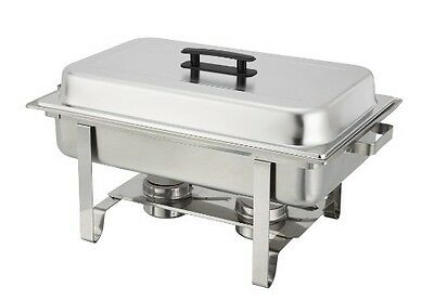 Stainless Steel Food Warming Tray Steel Chafer Full Party Size Catering Tabletop