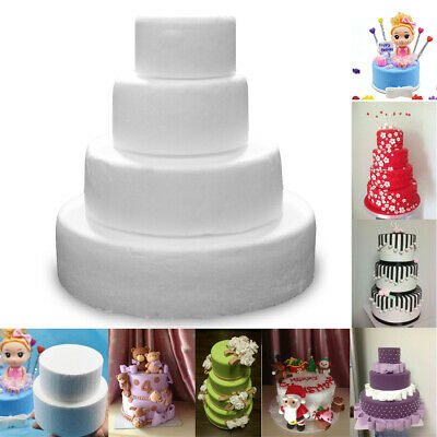 Handmade Round Cake Foam Polystyrene Styrofoam Party DIY New Decorations