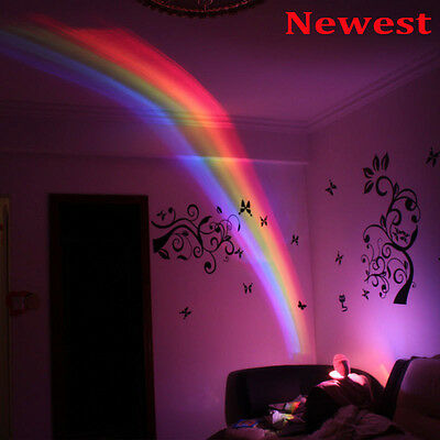NEW Baby Cot Nursery Mobile Toy Rainbow Projector Night Light Starlight Show LOT