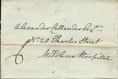 GB 1786 6d Wrapper to Middlesex Hospital with London Date Stamp on Back
