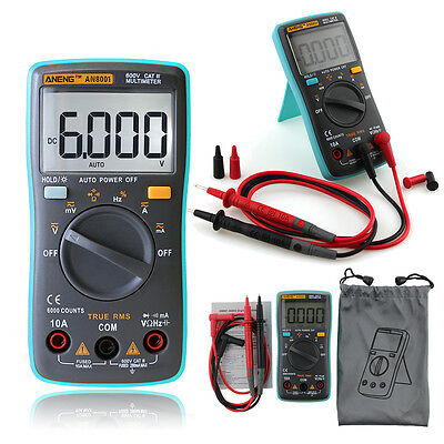Digital LCD Multimeter Voltmeter Ammeters AC DC OHM Circuit  6000 Counts Checker