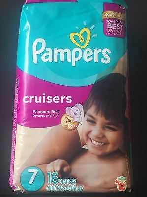 pampers cruisers taille 7, paquet neuf de 16 couches adult baby abdl Parfumé