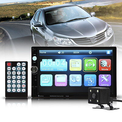 Car 7 inch 2 Din Bluetooth HD Touch Screen Car Radio MP5 Player+Rear Camera