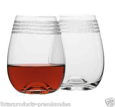 NEW ECOLOGY DASH STEMLESS WINE GLASS SET OF 4 WHITE RED GLASSES DRINKING 460ml